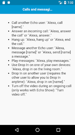 Commands for Amazon Echo Spot 1.0 screenshots 2