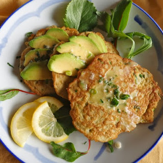 Avocado Pancakes with Lemon Parsley Butter