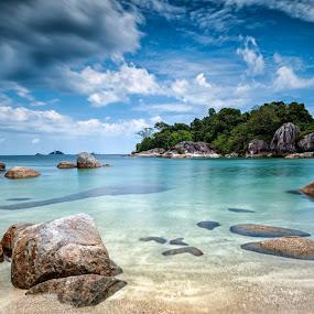 The Blue Lagoon by Mario Wibowo - Landscapes Beaches ( studio, water, lagoon, mario, 2013, stone, jakarta, beach, travel, mwp, blue, mario wibowo, kelapa gading, wibowo, trip, nikon, belitung,  )