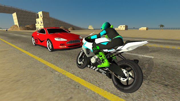 Motorbike Driving Simulator 3D APK screenshot thumbnail 2