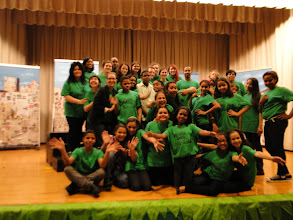Photo: The Fundamentals of Teaching Theatre Class Directed The Jungle Book at PS 161 as part of the after school Drama Program. Jennifer Katona and the class worked during the Fall 2012 semester developing choreography, staging, set design, sound design, costumes and promoting the performance.