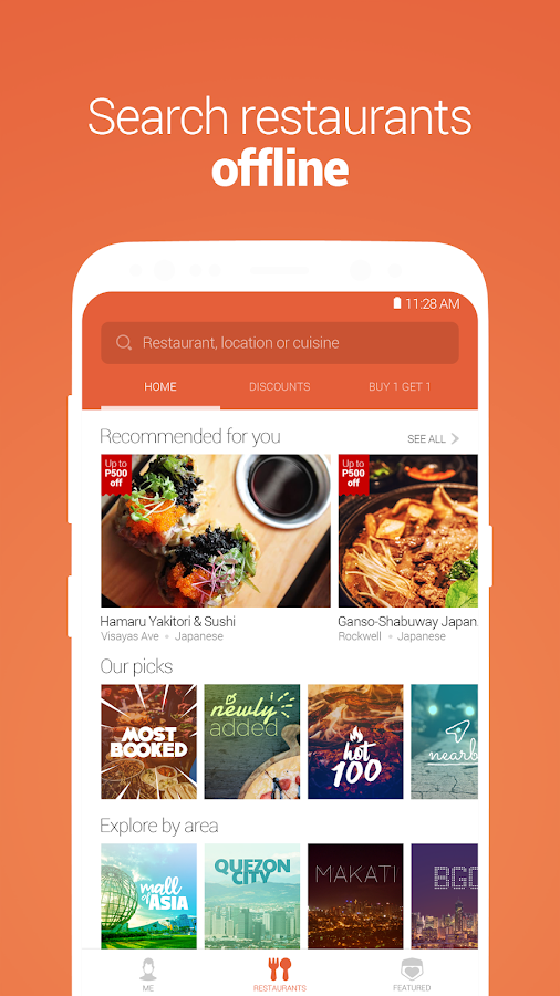 Booky - Restaurants and Deals- screenshot