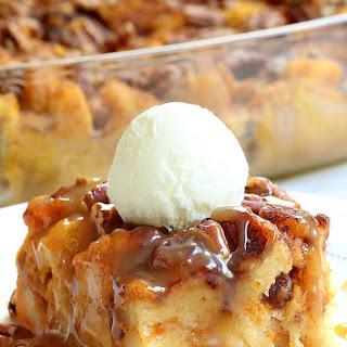 Pumpkin Pecan Bread Pudding.