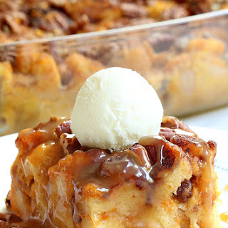 Pumpkin Pecan Bread Pudding.