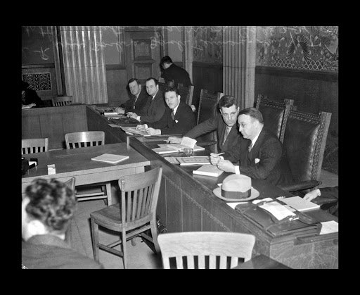 """Little Dies Committee"" at the Los Angeles County State Relief Administration Hearing"