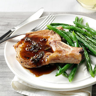 Pork Chops with Honey-Balsamic Glaze Recipe
