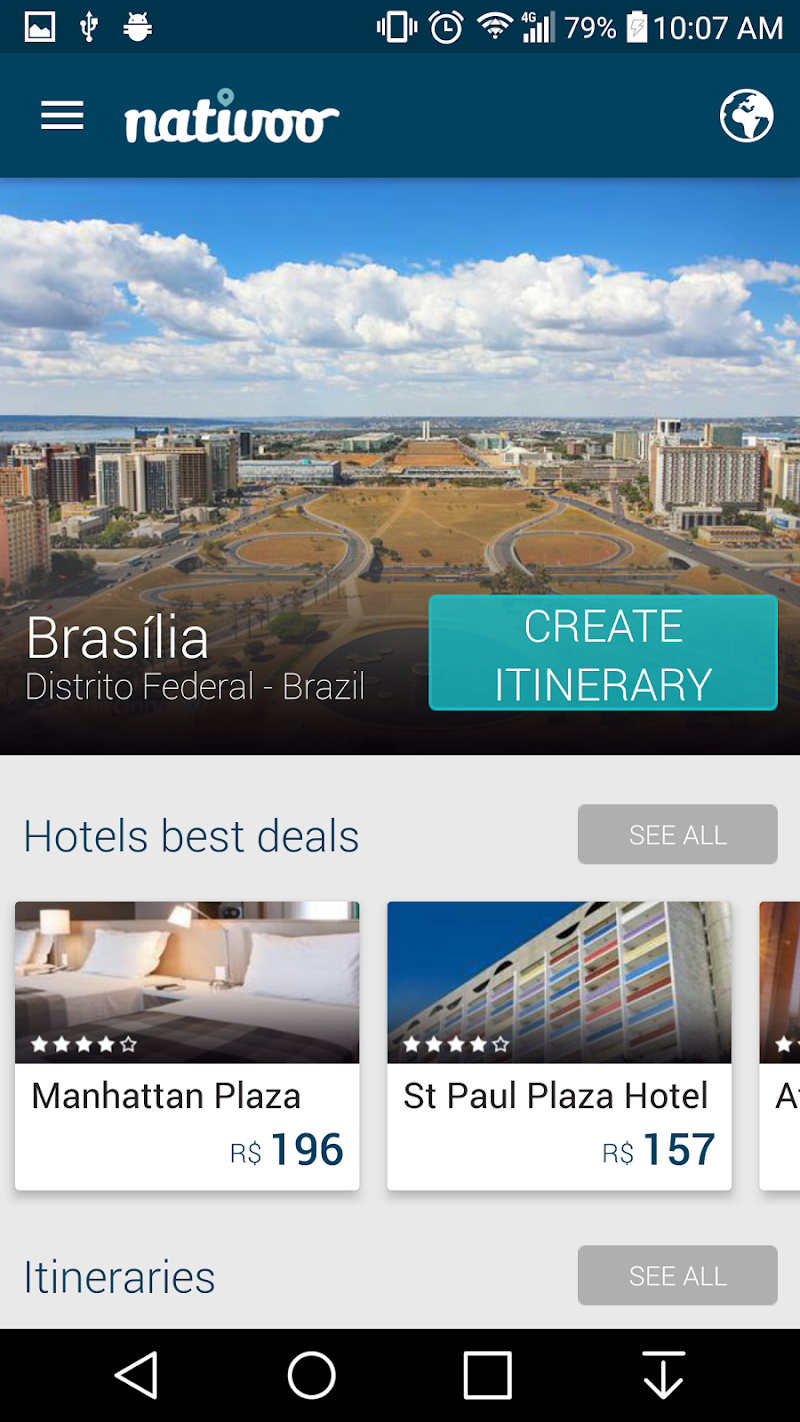 Скриншот Brasilia Travel Guide Brazil