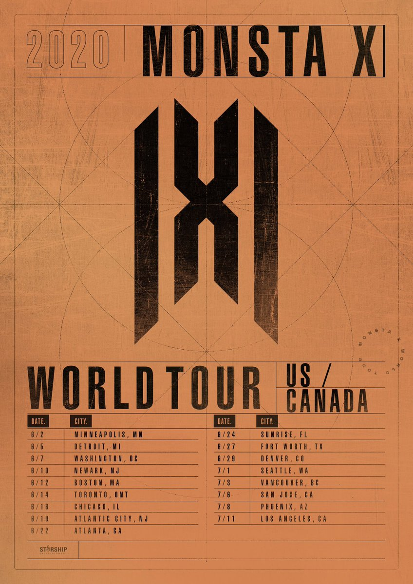 monsta x 2020 us world tour