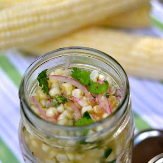 Pickled Corn with Red Onions and Cilantro