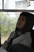 Photo: Tomáško, prispaté Slniečko v autobuse na ceste z Bratislavy do Borinky.