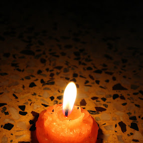 Light by Sudipta Ghosh - Abstract Fire & Fireworks ( abstract, orange, candle, light, fire )
