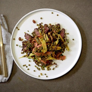 Moroccan-Spiced Warm Lentil and Steak Salad.