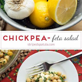 Chickpea and Feta Salad.