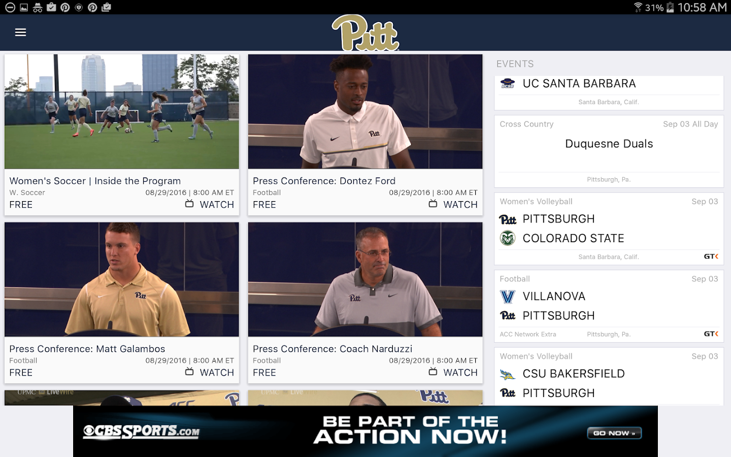 Pitt Gameday LIVE- screenshot
