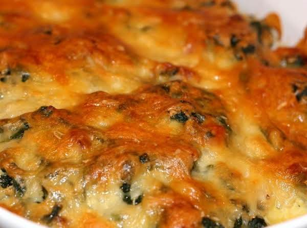 Cheesy Spinach Rice Casserole Recipe