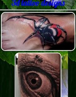 3d tetování design - náhled