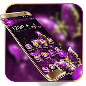 Purple Luxury Golden Butterfly Theme