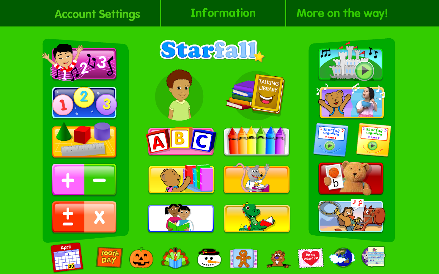 Starfall FREE - screenshot