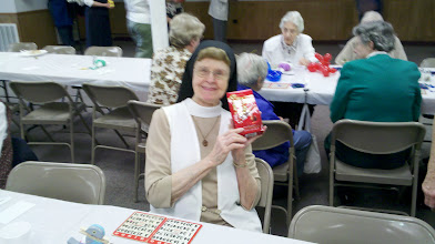 Photo: Oldest nun (95 years old) with her prize.