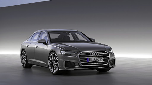 The new A6 gets much sharper lines including a wide grille similar to that on the Prologue concept. Picture: AUDI