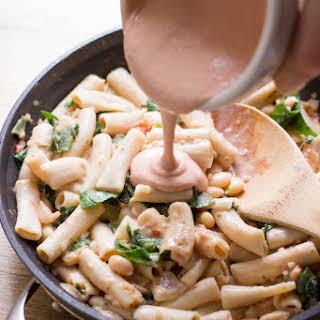 Rustic Tuscan White Bean Pasta.