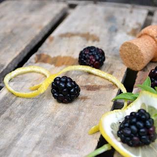 Lemon Vodka Marinated Blackberries #HandCraftedEdibles