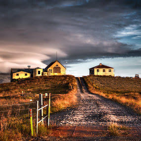 Abandoned farm when night closes in by Johann Pall Valdimarsson - Landscapes Travel