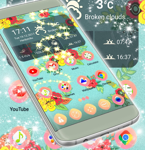 Vintage Flower Launcher app (apk) free download for Android/PC/Windows screenshot