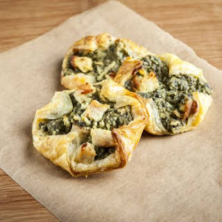 Cheesy Spinach-Stuffed Crescents.