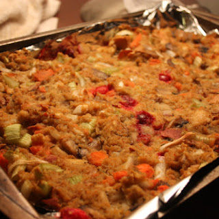 Cranberry Sweet Potato Stuffing!