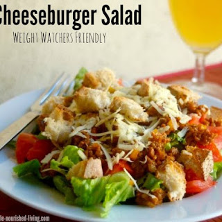 Weight Watchers Friendly Cheeseburger Salad.