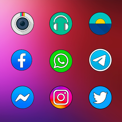 OXYGEN CIRCLE - ICON PACK Screenshot Image