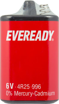 Eveready 4R25 996 - 6V, 0% Mercury-Cadmium