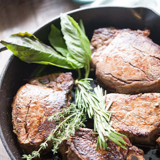 Beef Tenderloin Recipe with Mushrooms and Fresh Herb Butter