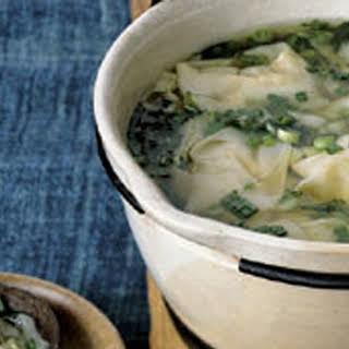 Wonton Soup with Bok Choy.