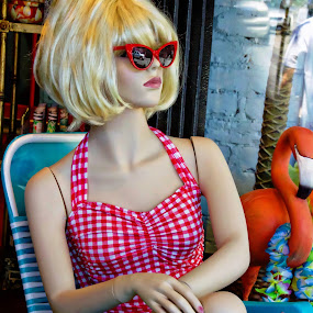 Street Mannequin Tan by Alice Gipson - City,  Street & Park  Markets & Shops ( store mannequin, blonde store mannequin, alicegipsonphotographs, new orleans mannequin, mannequin in store )