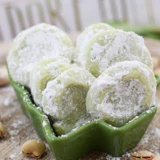 Pistachio Wedding Cookies.