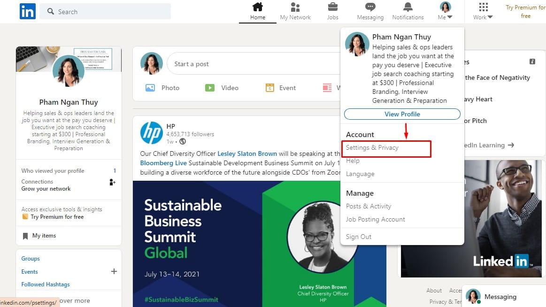 Xóa tài khoản LinkedIn như thế nào?