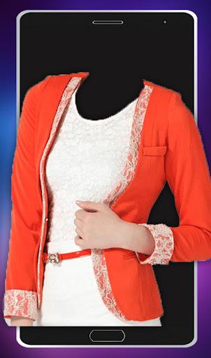 女性のファッション写真のスーツ