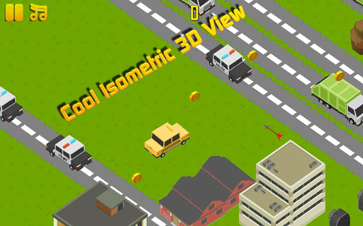 Blocky Traffic Taxi Dash