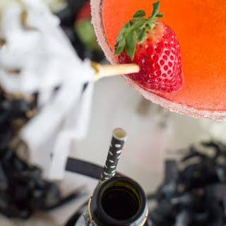 Sparkling Strawberry Martinis.