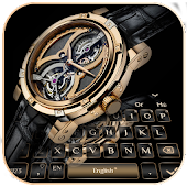 Luxury Gold Black Watch Keyboard Theme Android APK Download Free By Cheetah Theme Designer