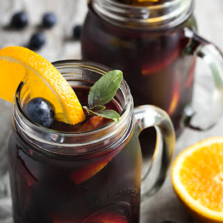 Summertime Blueberry Sangria.