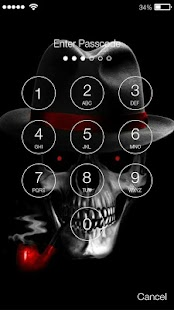 Smoking Skull Screen Lock - náhled