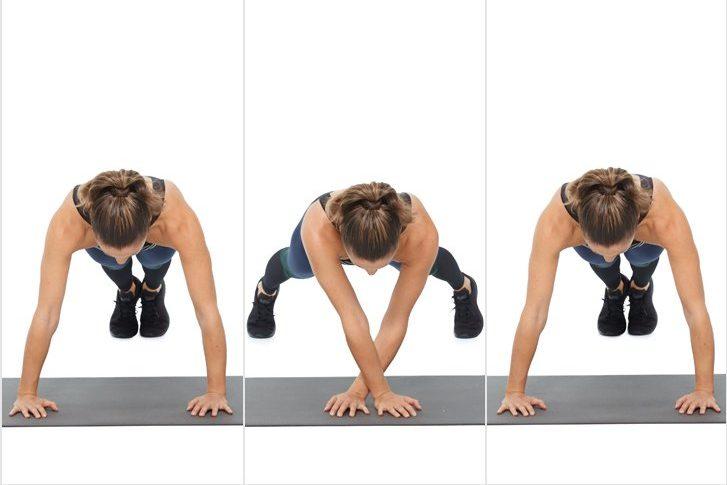 plank đúng cách- plank di chuyển tay