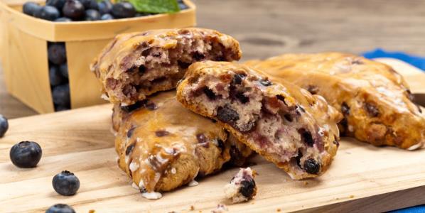 Blueberry Almond Breakfast Scones Recipe | Yummly