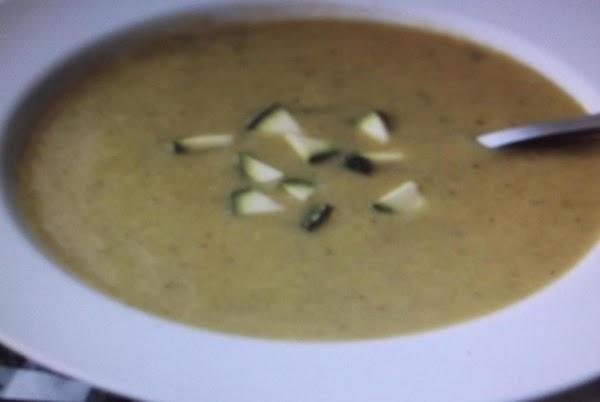 Cold Lemon Soup With Zucchini Recipe