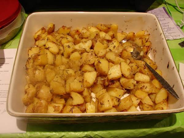 Roasted Rosemary Potatoes With Carmelized Onions
