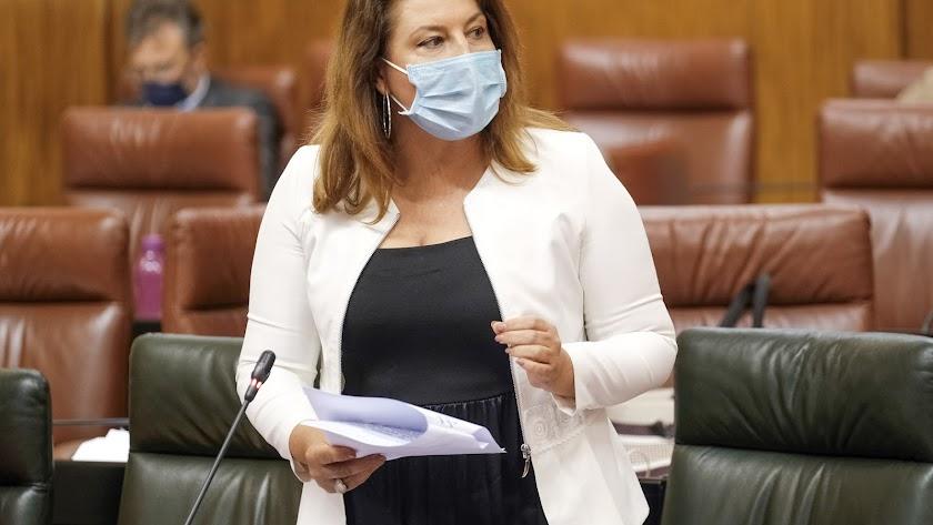 Carmen Crespo en el Parlamento de Andalucía.