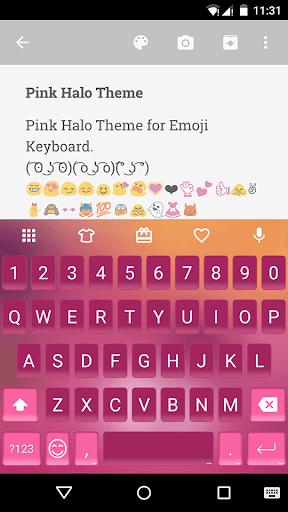 Pink Halo Emoji Keyboard Theme